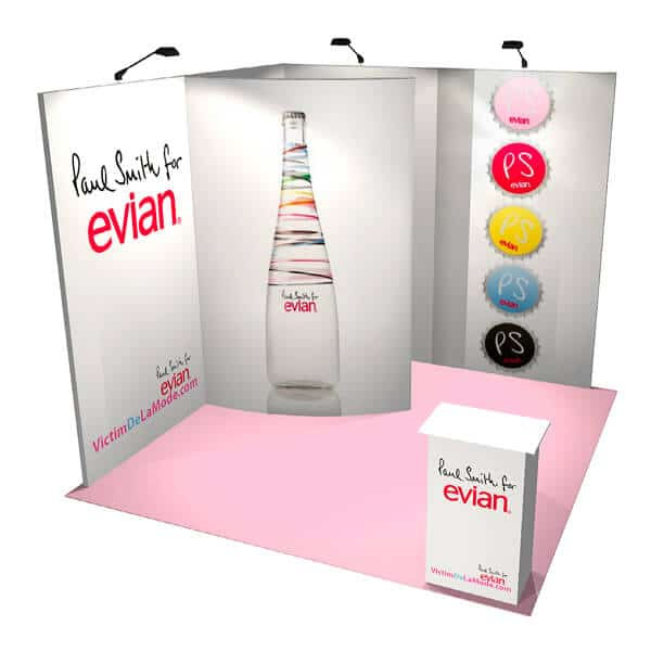 fabric stand with curved storage evian