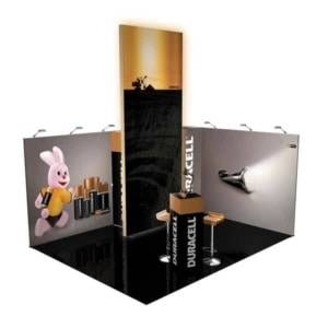 fabric exhition stand with lightbox