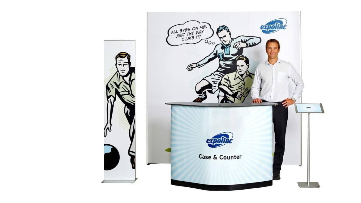 Pop up Magnetic met Case & Counter, PanelBase en Info display
