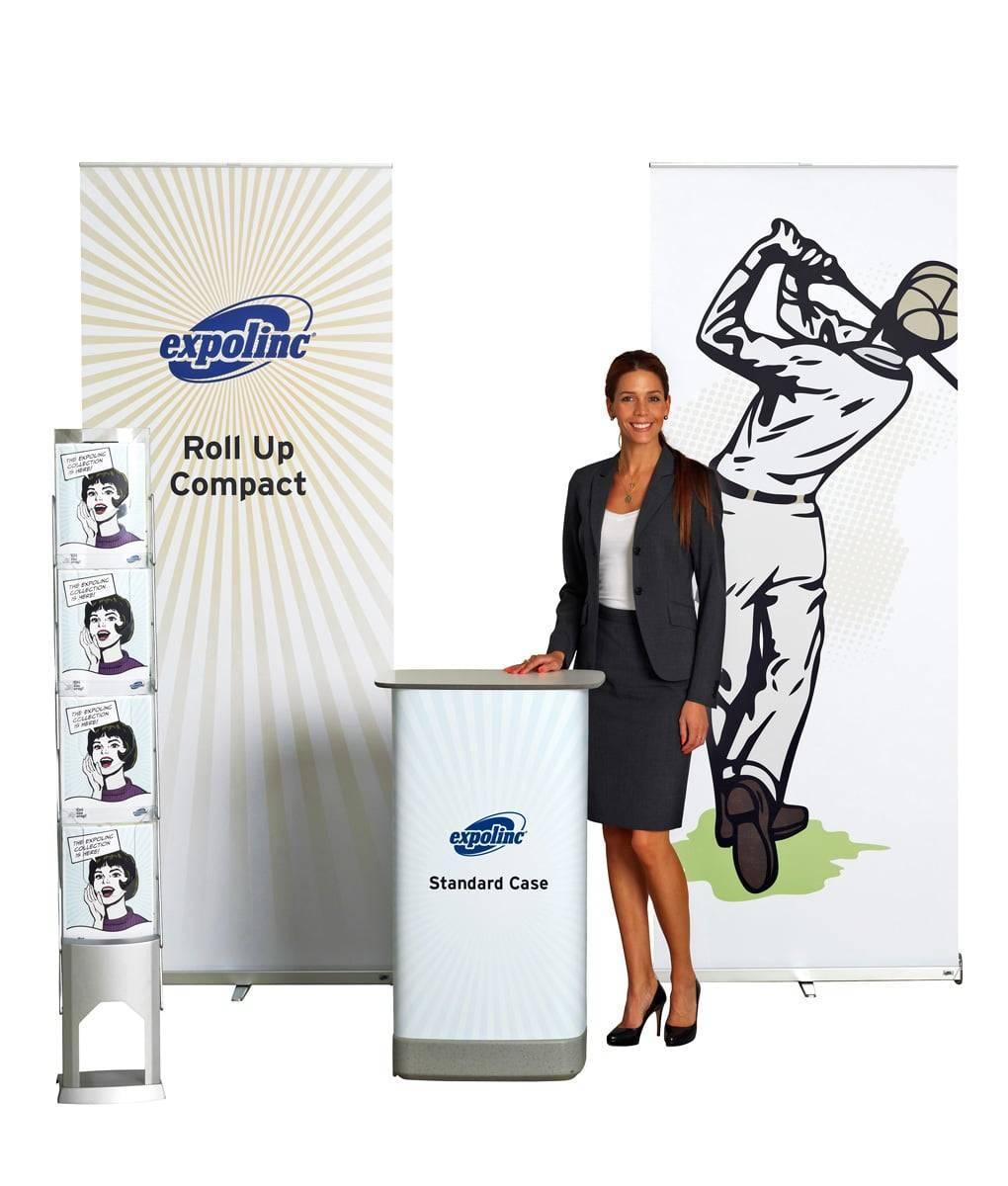 Roll up Compact, Standard Case & BrochureStand