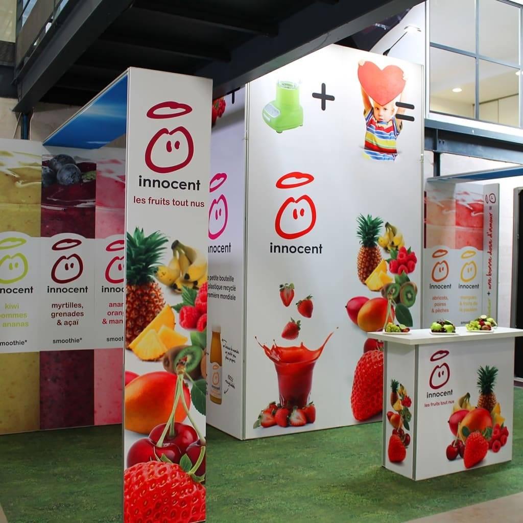 Bedrukking beursstand evenement design expo systems for Stand expo evenement