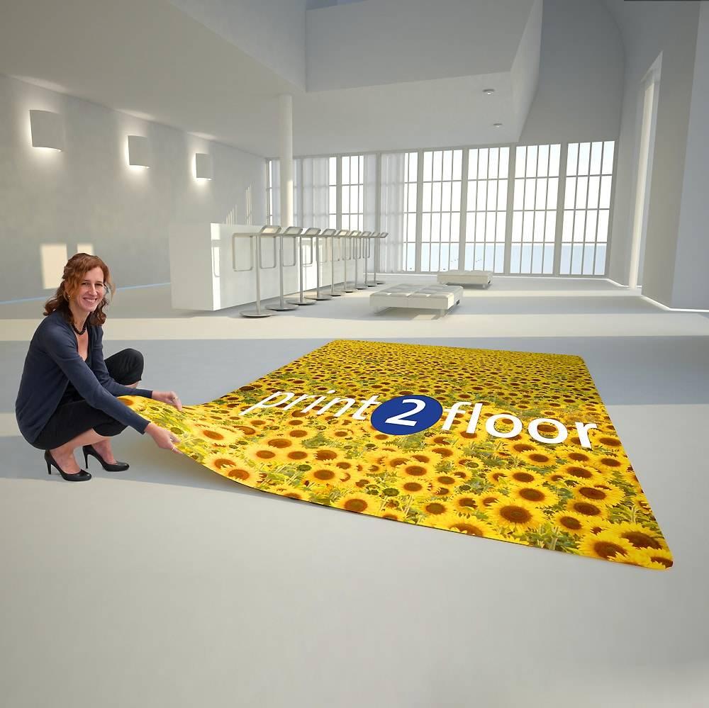 Bedrukte tapijten - vloervinyl voor beursstand & event
