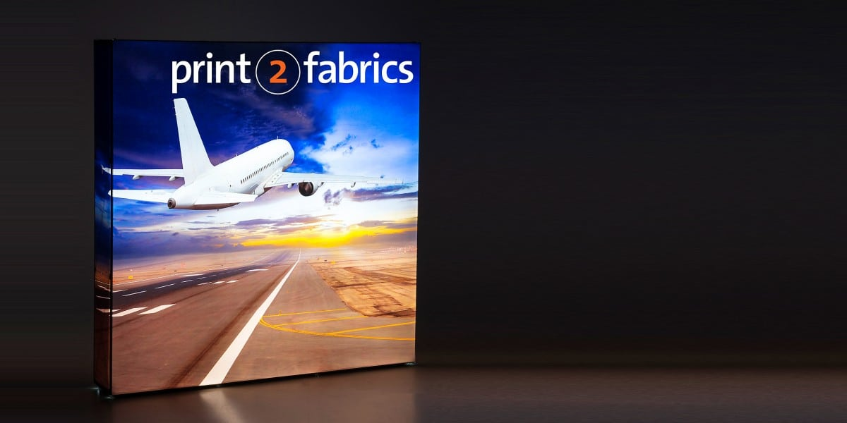 Fusion Backlit Fabric Pop Up display
