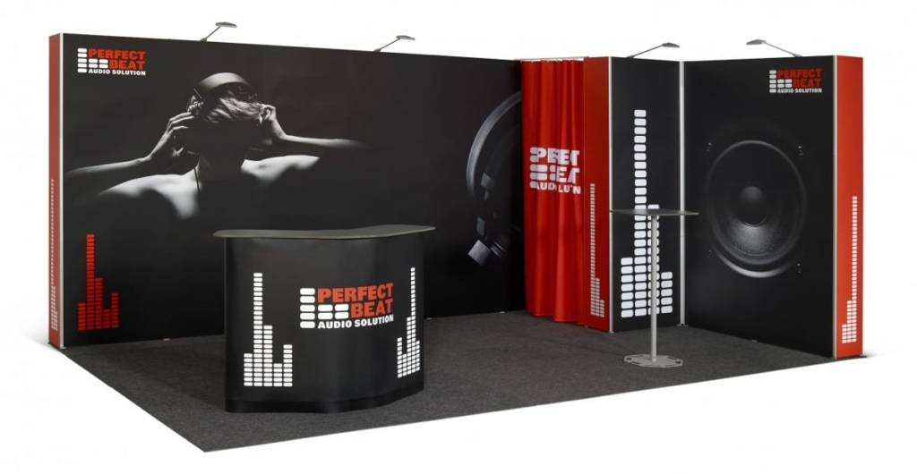 Pop up Magnetic beursstand 5x3m
