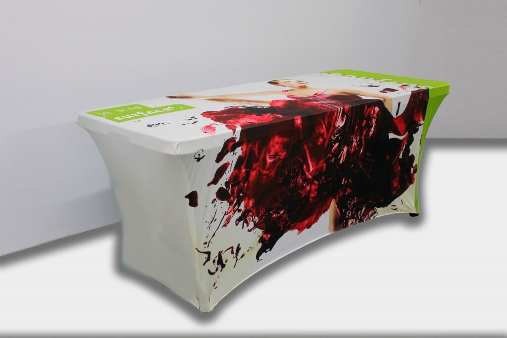 printed stretch table cover