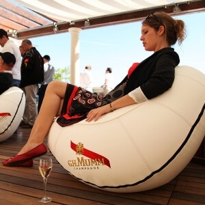 inflatable rocking chair for indoor and outdoor use