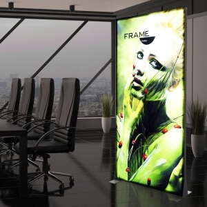 fabric led lightbox in office
