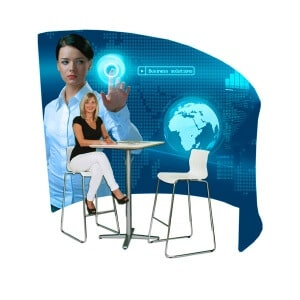 fabric curved meeting pod