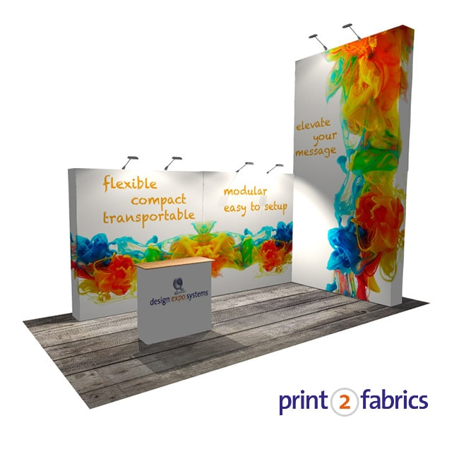 Modulaire Textiel pop-up beursstand